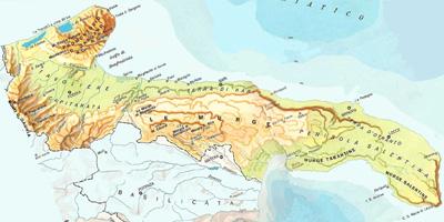 Cartina Puglia Del Sud.Clima Geografia E Storia Salento Puglia
